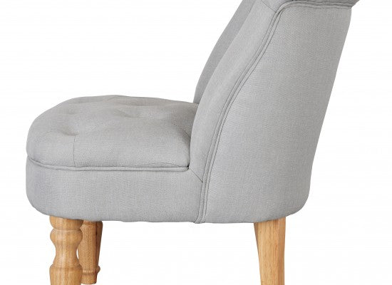 LPD FurnitureCharlotte Boudoir Style Chair in Duck Egg BlueBlue Ocean Interiors