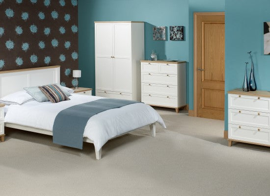 LPD FurnitureBoston 3 Door Wardrobe in Ash and WhiteBlue Ocean Interiors