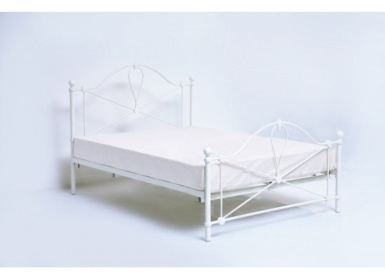 LPD FurnitureBronte Metal Bedstead in White FinishBlue Ocean Interiors