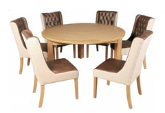 Treviso 150cm Round Dining Table with 6 Olivia Chairs