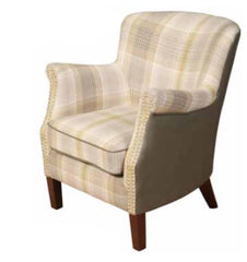 Harlow Fusion Armchair in Yellow Checks Finish