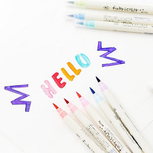 10-Color Calligraphy Marker Brush Pen Set
