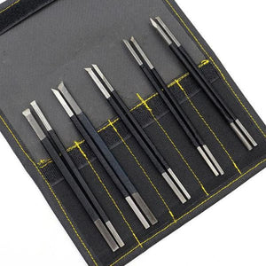 10-Piece High Carbon Steel Stone Carving Knives Accessory