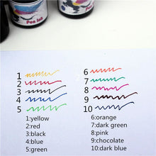 15Ml Fountain Pen Ink - 10 Color Options Blue