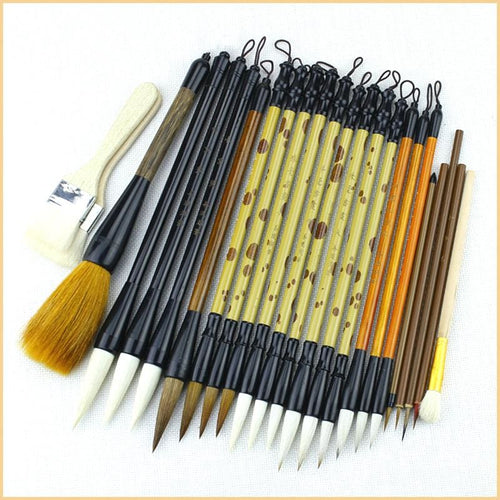 24-Piece High Quality Calligraphy Brush Set