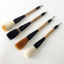 4-Piece Large Hopper-Shaped Brush Set (Bear Wolf Sheep And Multi Hair)