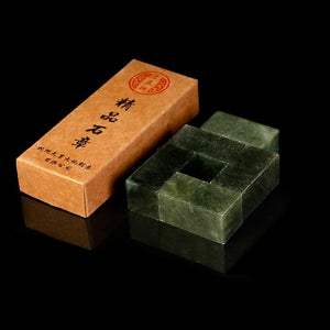 5-Pieces Dark Green Uncarved Seal Stones