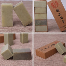 5-Pieces Green Uncarved Seal Stones