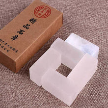 5-Pieces White Uncarved Seal Stones