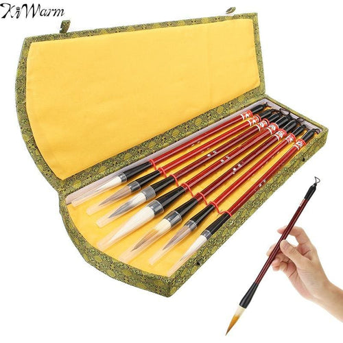 7-Piece Chinese Calligraphy Brush Set With Gift Box