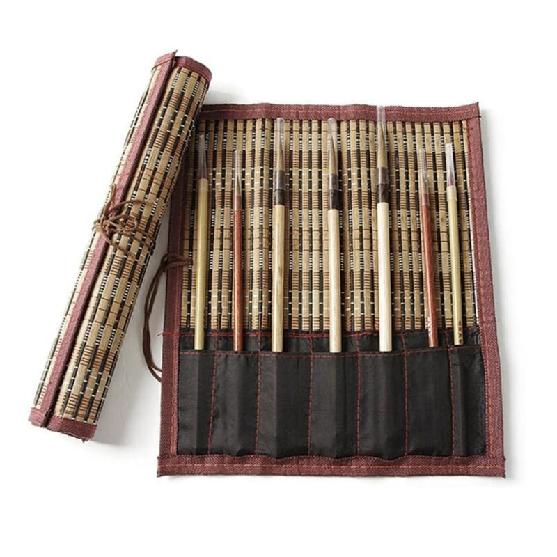 Bamboo Rolling Brush Curtain Holder
