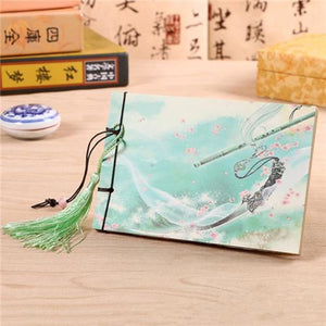 Hand Bound Chinese Style Blank Book - 3 Styles C