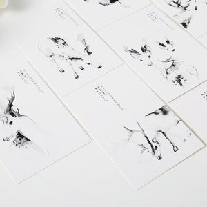 Mystery Deer Calligraphy Postcards
