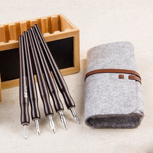 Professional Dip Pen Set 5 Holders And Nibs With Bag