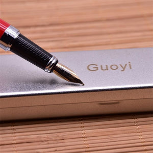 Red Fountain Pen 0.5Mm Nib In Gift Box