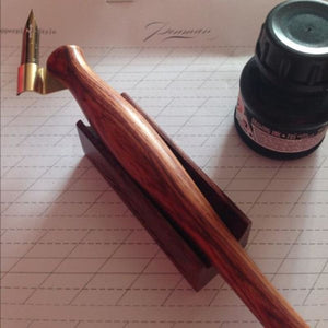 Rosewood Calligraphy Pen Holder