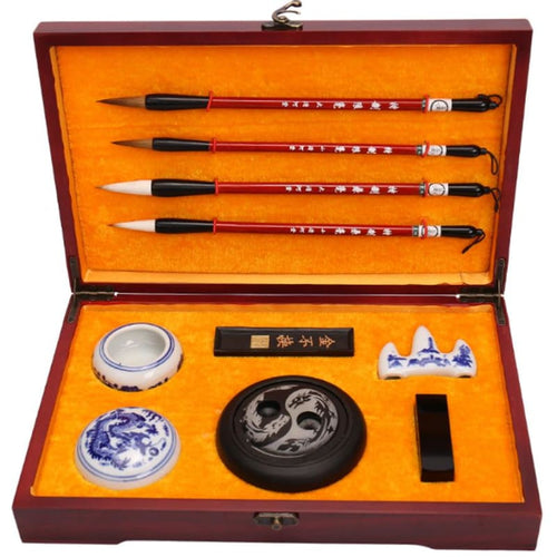 The Four Treasures Of Study Professional Chinese Calligraphy Gift Box Set In Rosewood Box