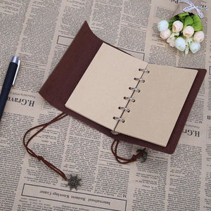 Traveler Pirate Anchor Blank Journal Notebook Pu Leather