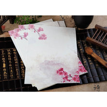 Vintage Chinese Flower Painting Stationery Paper - 12 Designs Design 1
