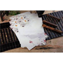 Vintage Chinese Flower Painting Stationery Paper - 12 Designs Design 10