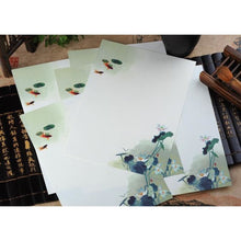 Vintage Chinese Flower Painting Stationery Paper - 12 Designs Design 4