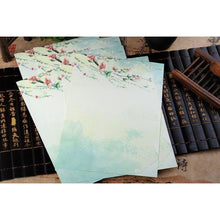 Vintage Chinese Flower Painting Stationery Paper - 12 Designs Design 12