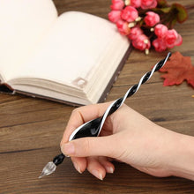 Vintage Handicraft Glass Crystal Signature Fountain Pen