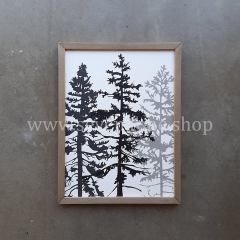 EVERGREEN - THREE LITTLE TREES - 12 X 16