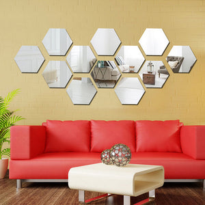 3D Mirror Wall Decorative Mirror Stickers