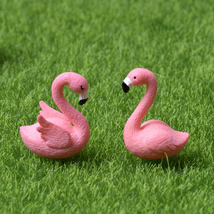 Micro Flamingo Figurine Miniature Animals