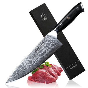 Best  Professional Chef Knife 8 inch Japanese Damascus Steel High Quality Kitchen Knives