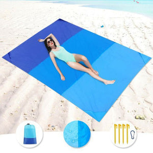 200x210cm Portable Pocket Picnic Mat Waterproof Sand Beach Mat Outdoor Camping Folding Blanket Picknick Tent Cover Bedding Bed