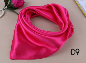 Candy Colors Women Silk Scarf