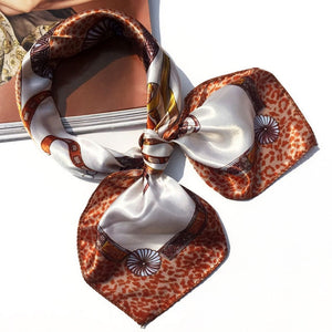 Flower Leopard Striped Ribbon Headwear