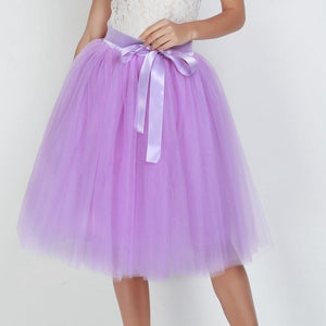Tulle Skirt Pleated Tutu Skirts Womens