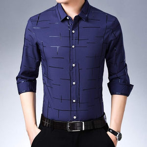 Casual Plaid Luxury Long Sleeve Shirt