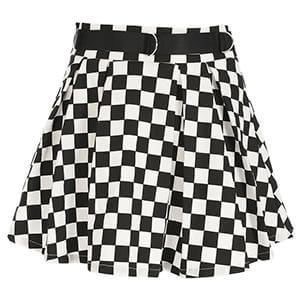 Pleated Checkerboard Skirts For Womens