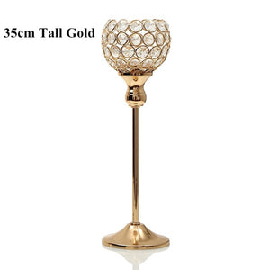 Crystal Tealight Candle Holders Metal Glass
