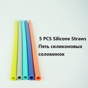 Silicone Coffee Cup with Straw Lid