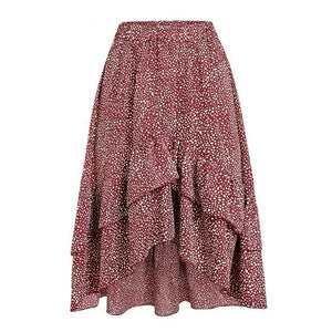 High Waist Flounce Beach Women Skirt