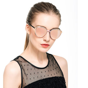 Round Ladies Vintage Retro Oversized Glasses