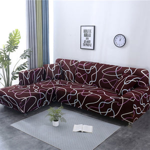1/2 pieces Sofa Cover Set Geometric Couch Cover Elastic Sofa Cover for Living Room Pets Corner L Shaped Chaise Longue Sofa Cover