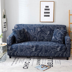 Anti-dust Sofa Cover Stripe Printing High Elastic Stretch Tight Wrap Furniture Protector Towel 1/2/3/4-Seater Home Textile 1 PC