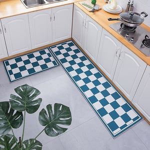 Long Kitchen Mat Hallway Entrance Door Mat Floor Mat Geometric Ethnic Bedside Carpet Non-Slip Water Absorption Bathroom Mat Rugs