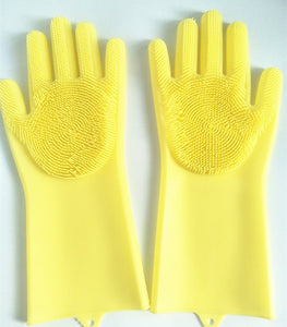 Magic Silicone Rubbe Dish Washing Gloves