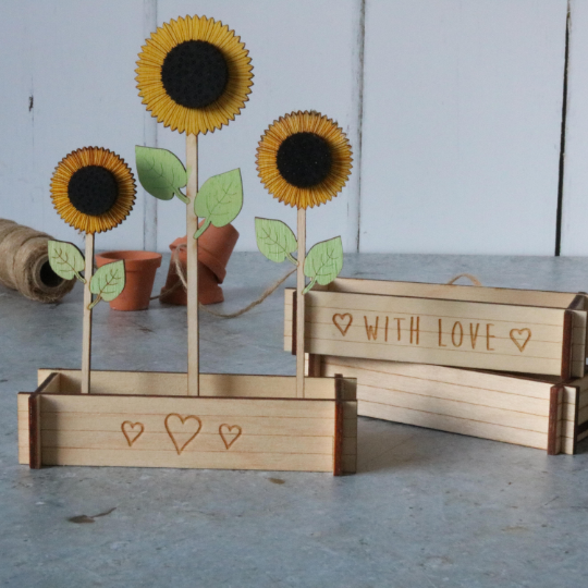 Sunflower Flower Box