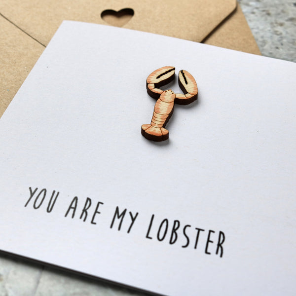 You Are My Lobster Valentine's Card