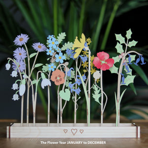 Personalised Family Birth Flowers - additional flowers