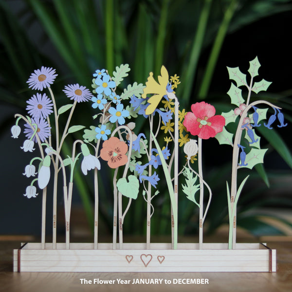 Personalised Family Birth Flowers