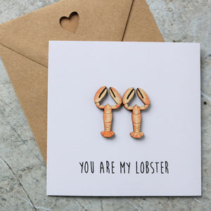 Lobster Couple Valentine's Card